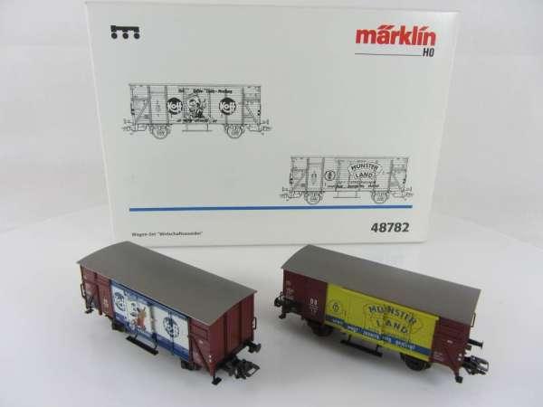 Märklin 48782 Wagenset Wirtschaftswunder 2 Güterwagen neuwertig und mit OVP