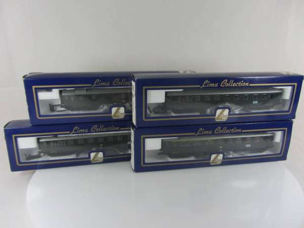 Lima 309463, 67 und 70, 4 Personenwagen Eilzug der DB grün, neuwertig mit Verpackung