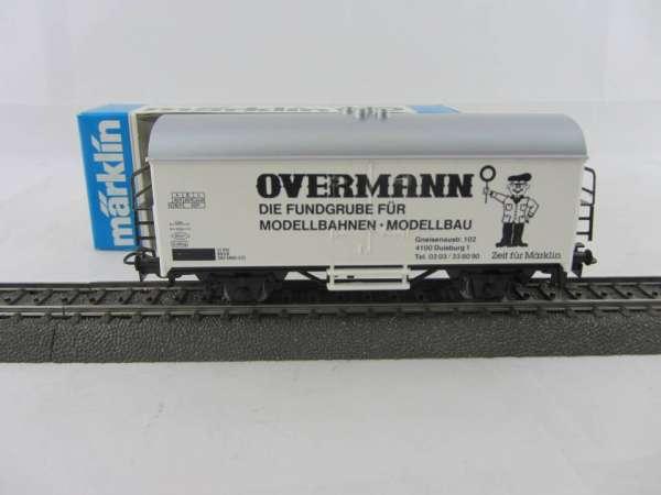 Märklin Basis 4415 Werbewagen Overmann schwarz Sondermodell, neu und mit OVP