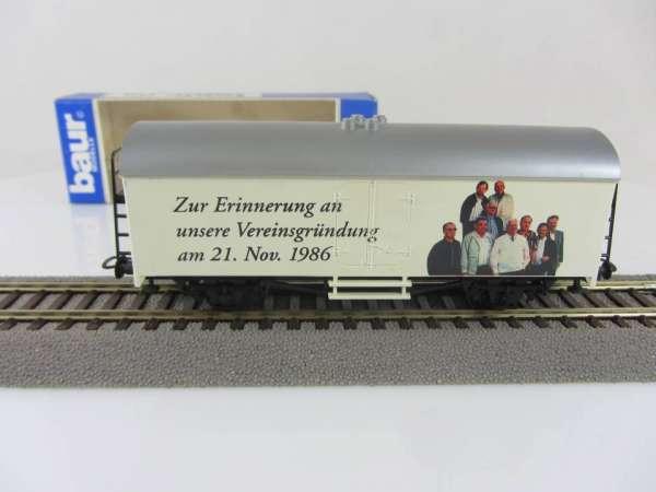 Baur HO Kühlwagen Modelleisenbahnfreunde Keltern / 10 Jahre Vereinsgründung mit Verpackung