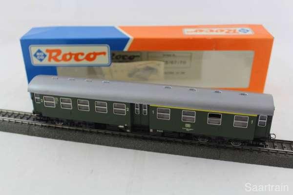 Roco 44367 Umbauwagen der DB grün, 3-Leiter-Achsen, sehr guter Zustand mit Ovp