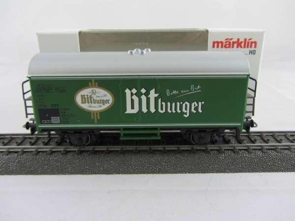 Märklin Basis 4415 Bierwagen Bitburger grün Sondermodell (s) Neu mit Verpackung-