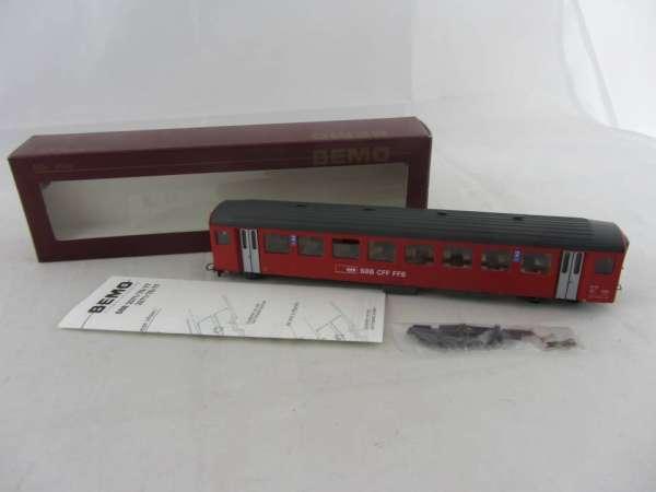 Bemo 3271 422 Personenwagen B722 der SBB rot, 2.Klasse, Neu-Zustand mit OVP
