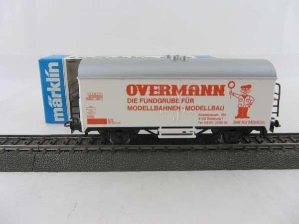 Märklin Basis 4415 Werbewagen Overmann rot (Schaffner weiss) Sondermodell, neu und mit OVP