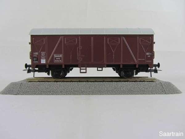 Basis ROCO Tonnendach Güterwagen braun mit Beschriftung Saar mit Verpackung