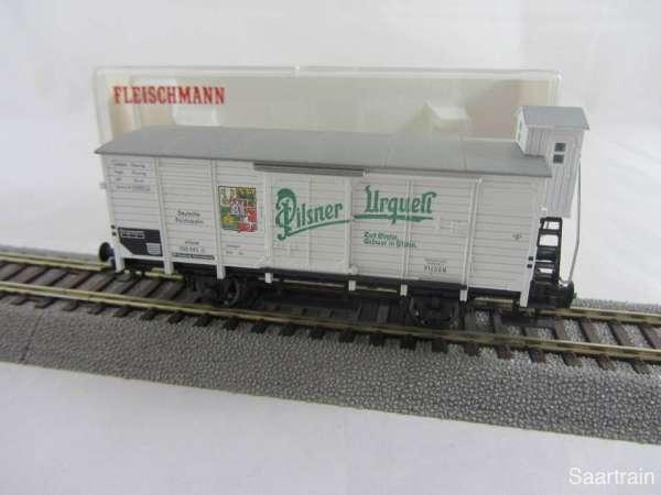 Fleischmann 5357K Pilsner Urquell G10 Bierwagen guter Zustand mit Originalverp.