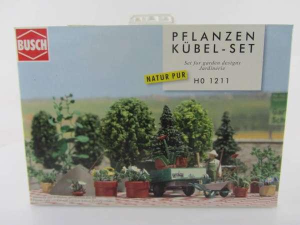 Busch HO 1211 Planzkübel-Set 1:87 neu mit OVP