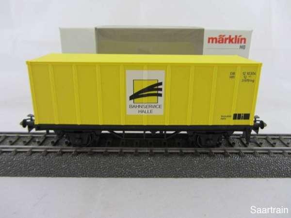 Basis 4481 Containerwagen Bahnservice Halle hellgelb Neu mit Verpackung