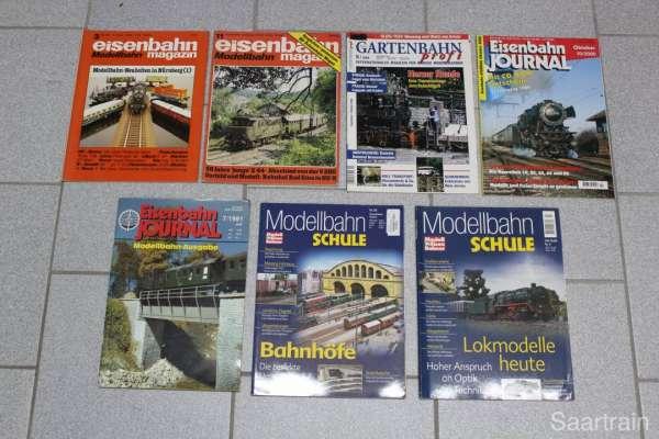 7 Eisenbahn-Hefte (Journal, EM, Modelleisenbahner) gebraucht