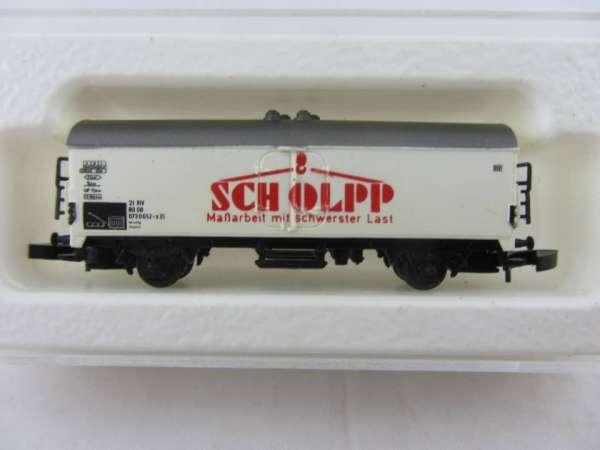 Märklin 8600 Kühlwagen Sondermodell Scholpp Kranarbeiten mit Box, Rarität