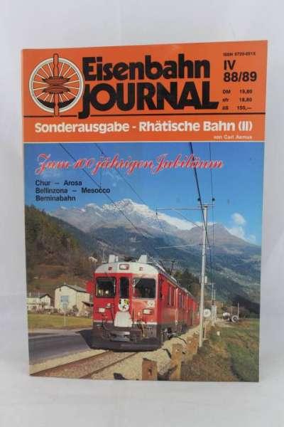 """Eisenbahnjournal """"Sonderausgabe-Rhätische Bahn II"""" iV 88/89"""