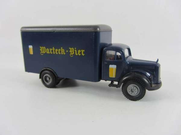 Brekina 1:87 Bier-LKW Mercedes Warteck Bier Schweiz II, sehr guter Zustand, mit OVP