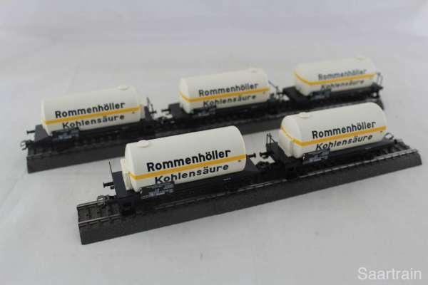 Märklin 2-achs-Kesselwagen Rommenhöller Kohlensäure, (5 Stück) aus Startset, neu ohne Verpackung