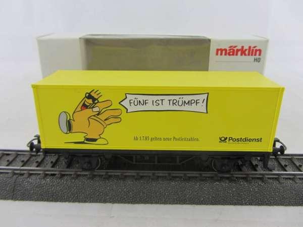 Märklin Basis 4481 Containerwagen neue Postleitzahlen Sondermodell Neu m. OVP