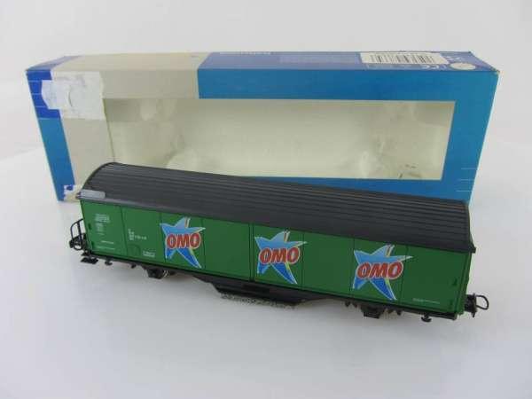 ROCO 47665 HABIS OMO grün Schienreinigungswagen sehr guter Zustand und mit OVP