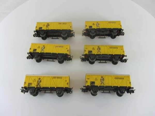 Märklin 4509 Bananenwagen (6 Stück) ohne Originalverpackung