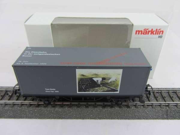 Märklin Basis 4481 Containerwagen Kunstausstellung Teun Hocks SOMO neu mit OVP