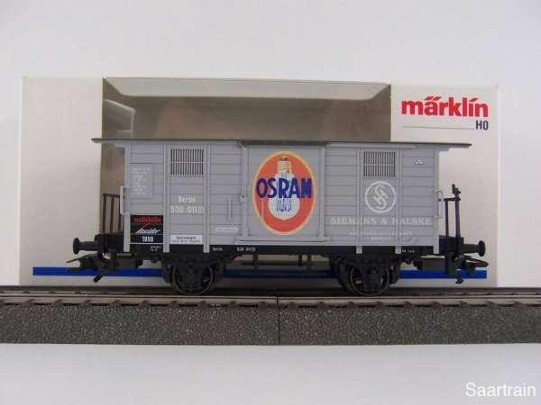 Märklin Insiderwagen 1998 48853 Osram Lampen Siemens & Halske mit OVP