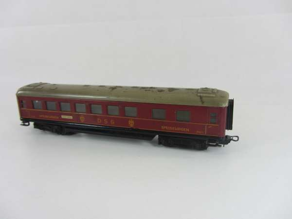Märklin 346/2 Schürzenwagen aus Blech, DSG Speisewagen rot (I), für Bastler