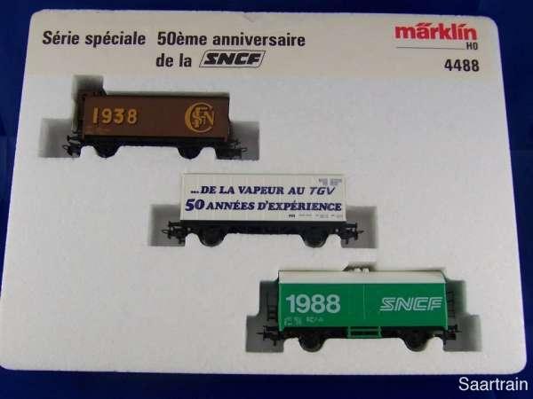Märklin 4488 Wagen Set 50 Jahre SNCF 3 Wagen neuwertig und Originalverpackt
