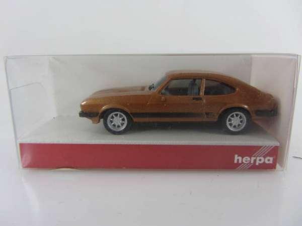 HERPA 33619 1:87 Ford Capri braun neu mit OVP